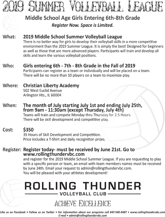 ROLLING THUNDER SUMMER LEAGUE